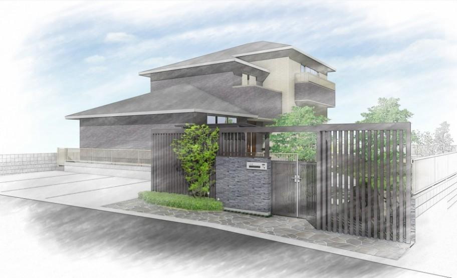 宮城県 外構 和モダンスタイルの工事が着工しました。