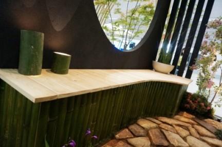 竹 ベンチ