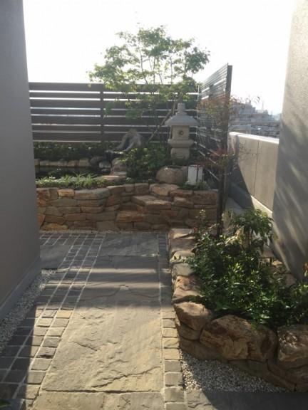 屋上庭園 園路