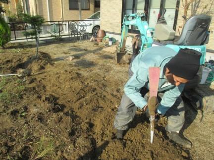 ガーデンリフォーム工事 施工中です 宮城県東松島市