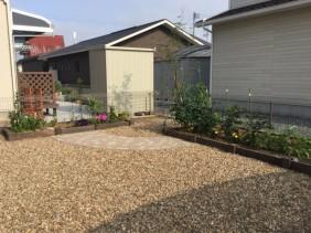 花壇と菜園
